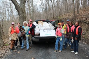St. Luke, Centre Hall participated in a trash clean-up project along Egg Hill Road, Spring Mills